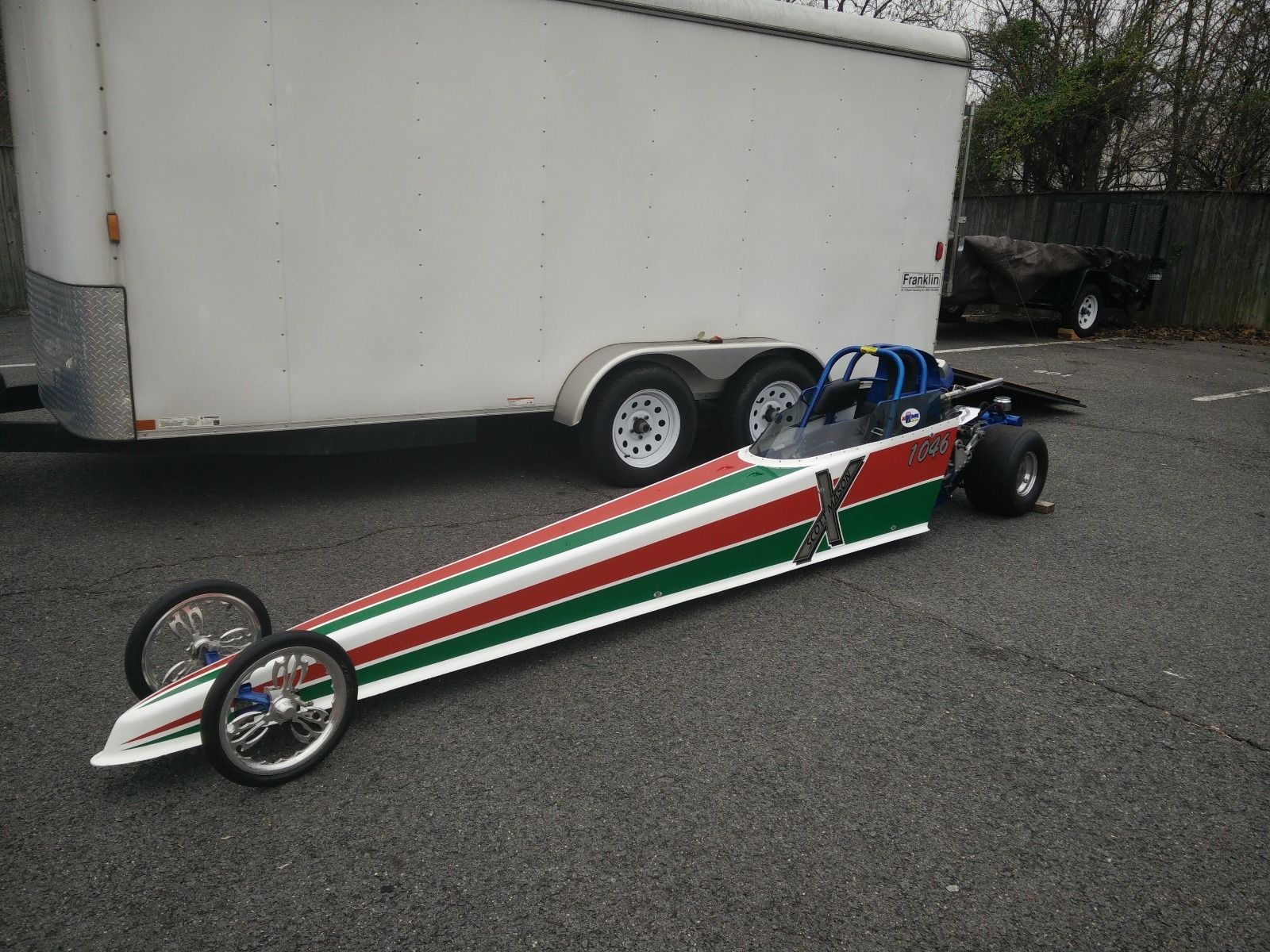 2007 Halfscale Jr. Dragster with Trailer in mint Condition race ...