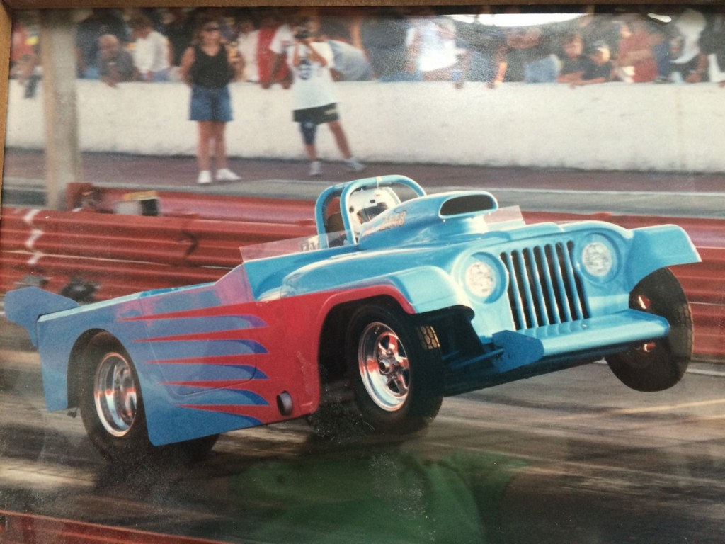 Jeep Willys Roadster Altered Drag Car Chassis for sale