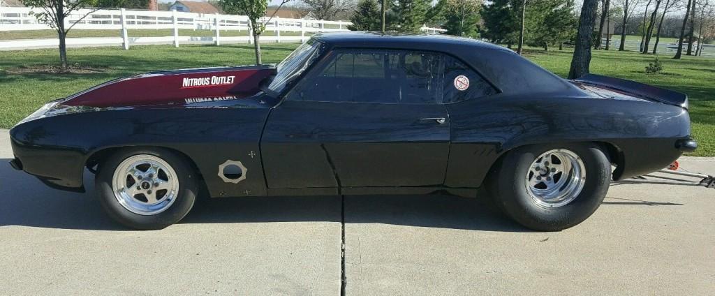 1969 chevrolet camaro drag car race car for sale. Black Bedroom Furniture Sets. Home Design Ideas