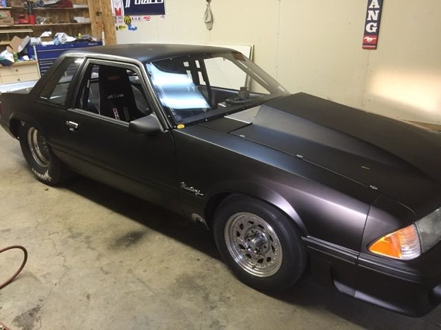 1989 Ford Mustang Notchback Drag Car Twin Turbo Sbf 7 50