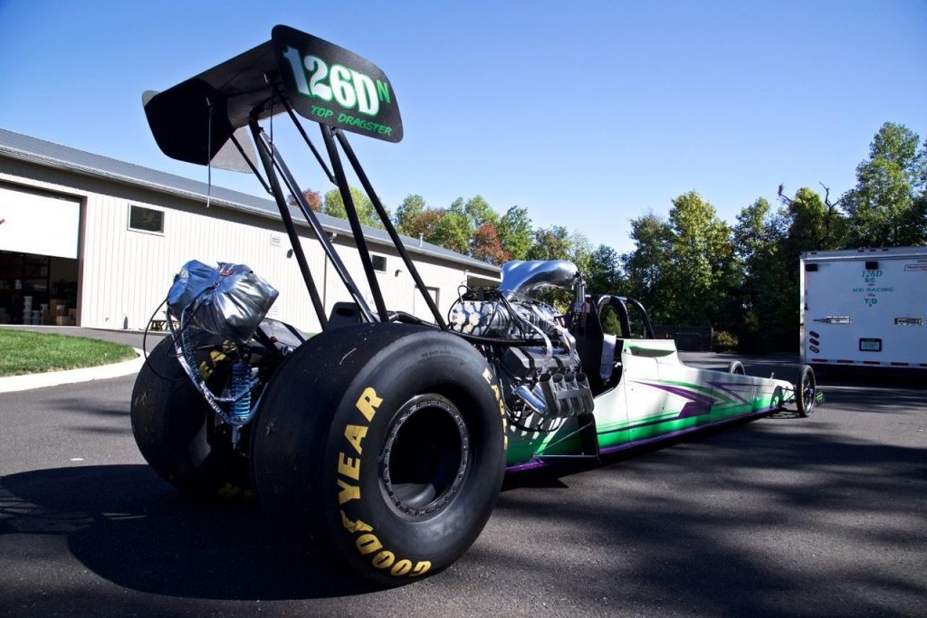 235 INCH ED QUAY REAR ENGINE DRAGSTER