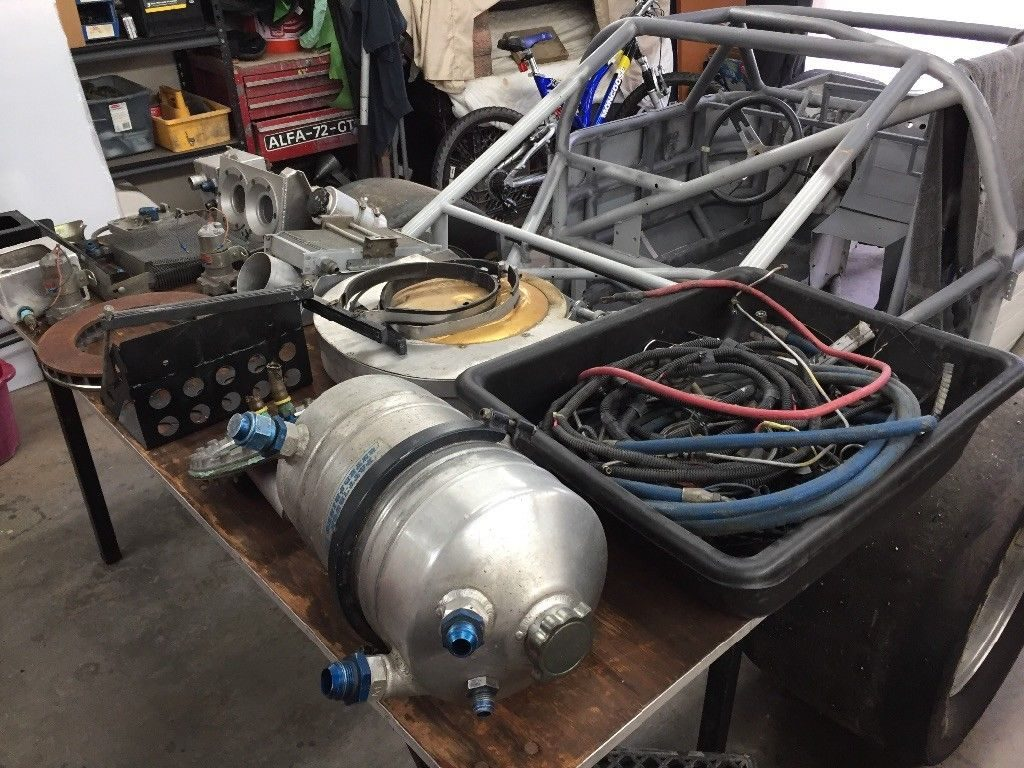 Gt1 Corvette Camaro Mustang Trans AM Racecar Rolling Chassis & Various PARTS