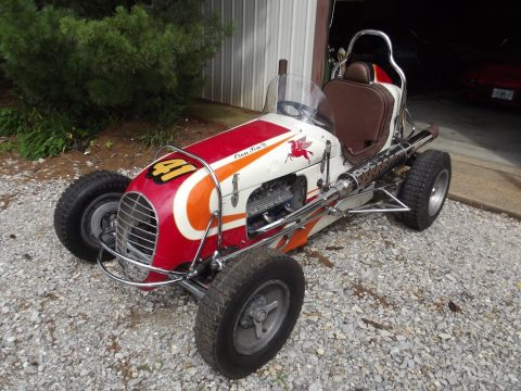 1948 Hillegas Midget Crossfire Ford V8 60hp Vintage Race Car Indycar for sale