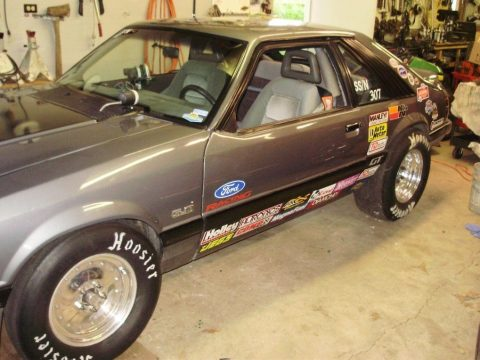 1985 Ford Mustang hatchback drag race car for sale