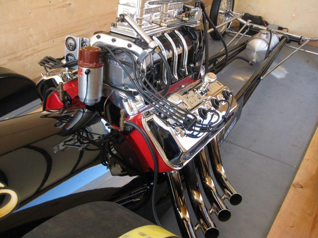 """Original 1962 AA/FD Fuel Dragster Cacklecar """"Chubasco"""""""